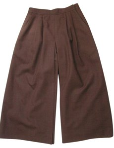 L.L.Bean Gaucho Culottes Wool Wide Leg Pants