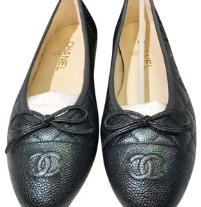 Chanel Grey Anthracite Flats