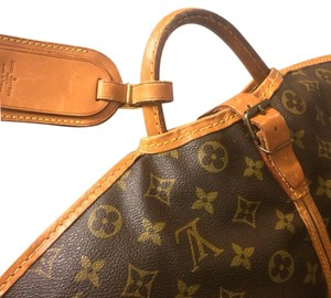 Louis Vuitton brown &tan Travel Bag