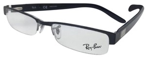 Ray-Ban New RAY-BAN Rx-able Eyeglasses RB 6182 2502 51-17 Black Semi Rimless