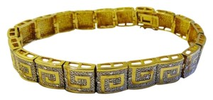 Technibond Technibond Greek Key Diamond-Accented Line Bracelet fits 6
