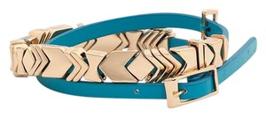 House of Harlow 1960 House of Harlow 1960 Leather Wrap Bracelet Teal