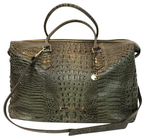 Brahmin green Travel Bag
