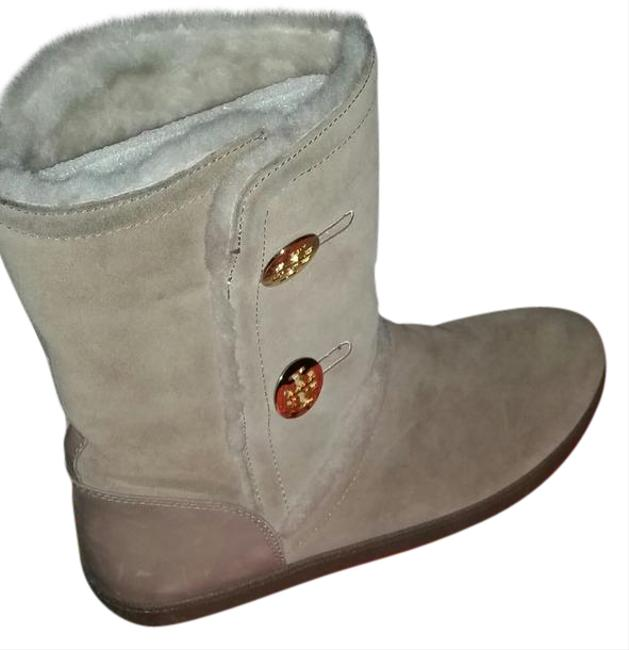 Tory Burch Oatmeal Suede Boots/Booties Size US 10 Wide (C, D) Tory Burch Oatmeal Suede Boots/Booties Size US 10 Wide (C, D) Image 1