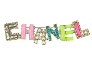 Chanel Chanel 17P Cuba Alphabet Logo Multicolored Brooch