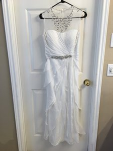Adrianna Papell Adrianna Papell Embellished Tiered Chiffon Gown Wedding Dress