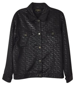 Fendi black Womens Jean Jacket
