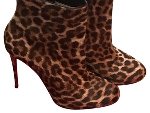 Christian Louboutin tan and black leopard Boots