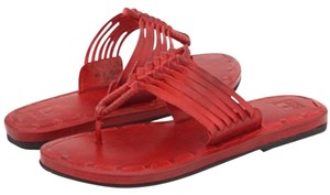 Frye Red Sandals