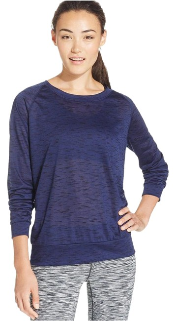 Preload https://img-static.tradesy.com/item/20572327/ideology-navy-raglan-sleeve-heathered-m-serenity-activewear-top-size-8-m-29-30-0-1-650-650.jpg