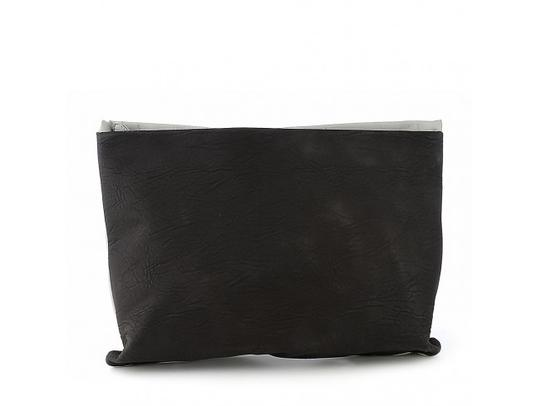 Preload https://img-static.tradesy.com/item/20572343/nila-anthony-enveloped-blackgrey-vegan-leather-clutch-0-0-540-540.jpg