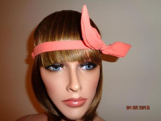 Other Coral Wire Bow tie Bunny Ears Ribbon Bendy Elastic Headband
