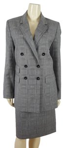 Dana Buchman DANA BUCHMAN long sleeved double breasted Plaid skirt suit sz 10