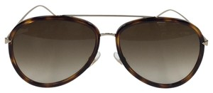 Fendi New Fendi FF 0155/S V4Z CC Havana Gold Plastic Style Sunglasses 140mm