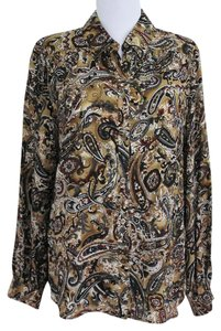 Talbots Paisley Silk Career Classic Top