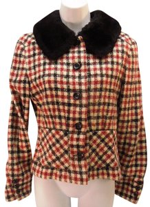 Valentino Vintage Fashion Wool Women Sz 6 Plaid Jacket