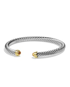David Yurman 5mm cable classics bracelet with citrine and gold