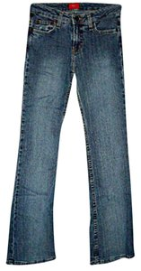 Mossimo Supply Co. Junior Size 1 Slim Stretch Juniors Boot Cut Jeans-Medium Wash