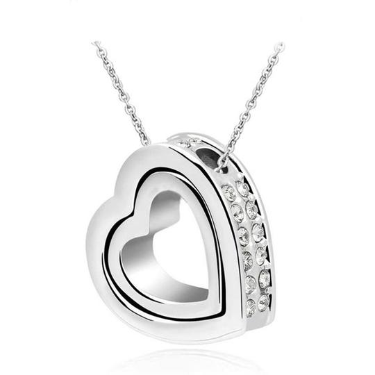Preload https://item3.tradesy.com/images/silver-bogo-free-double-heart-swivel-rhinestone-free-shipping-necklace-20572522-0-0.jpg?width=440&height=440