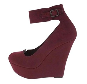 Charlotte Russe Fashion Fashionista Style Maroon Wedges
