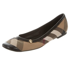 Burberry Nova Check Plaid Round Toe Brown, Black, Beige Flats