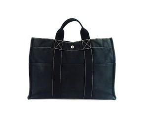 Hermès Vintage Canvas Tote in Black