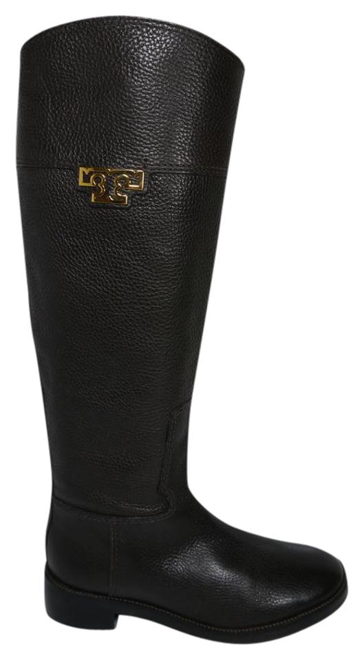 be64cbad2aa1 Tory Burch Chocolate Brown Wembley Riding Boots Booties Size US 5.5 ...