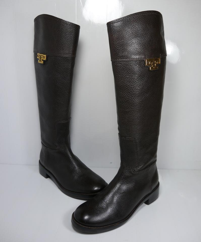c8e05b3b4602 Tory Burch Chocolate Brown Wembley Riding Boots Booties Size US 5.5 Regular  (M
