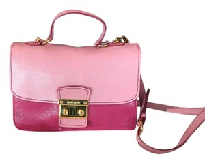 Miu Miu Leather Two-tone Shoulder Bag