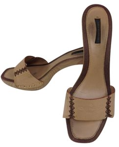 c7eb8c2df83b Beige Louis Vuitton Mules   Clogs - Up to 90% off at Tradesy