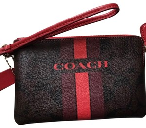 Coach Wristlet in Red and Brown
