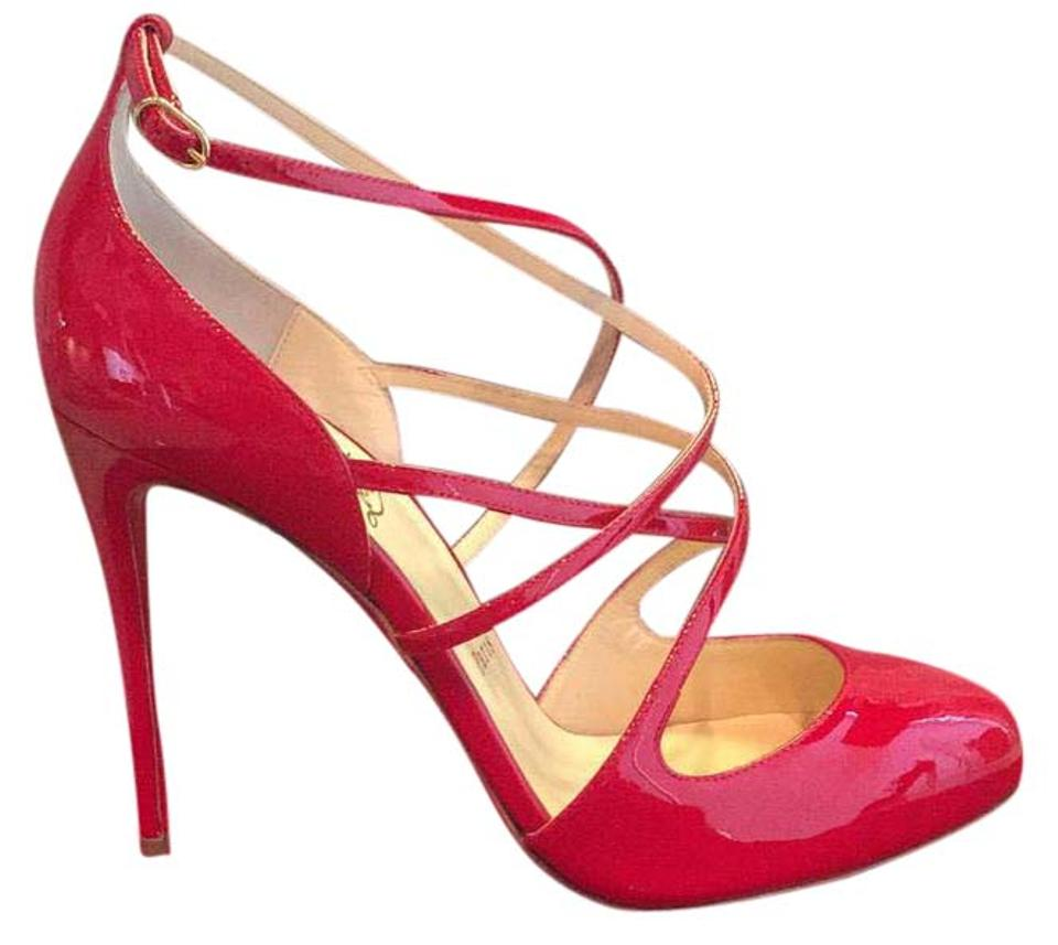Christian Red Louboutin Red Christian Soustelissimo 100 Patent Pumps 447eee
