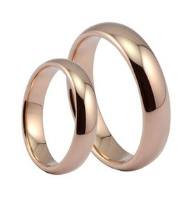 Rose Gold Filled Unisex Band Wedding Ring #9 Free Shipping