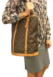 Louis Vuitton Tote in Brown/Monogram Leather
