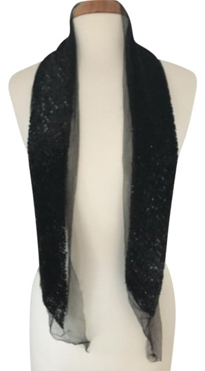 Preload https://img-static.tradesy.com/item/20572883/marc-jacobs-black-sequin-and-silk-tulle-scarfwrap-0-1-540-540.jpg