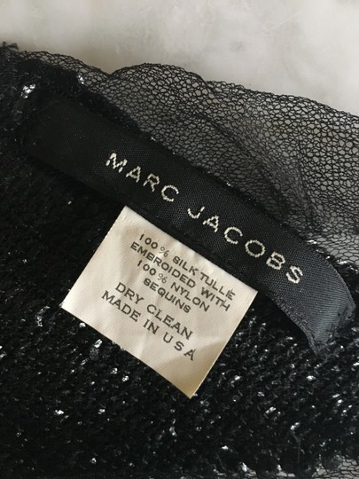 Marc Jacobs Black Sequin and Silk Tulle Scarf Image 2