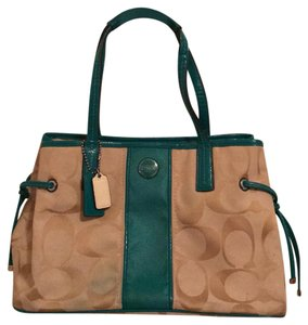 Coach Satchel in Teal