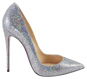 Christian Louboutin So Kate Disco Glitter Louboutin silver Pumps