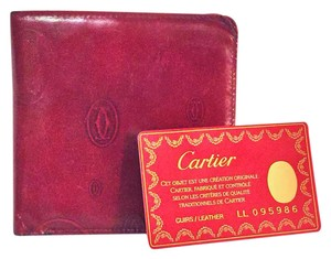 Cartier Cartier Paris patent leather red signature birthday bifold wallet