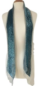 Marc Jacobs Baby Blue Sequin and Silk Tulle Scarf