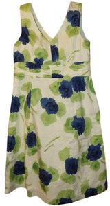 Boden Boho Floral Fitted Sleeveless Signature Dress