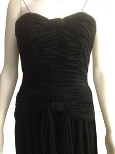 Simple Black Maxi Dress by Oleg Cassini