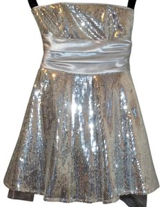 Masquerade Prom Formal Sequin Flowy Party Dress