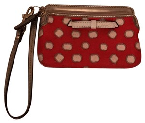 Coach Wristlet in Red And White