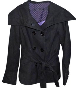 Steve Madden Belted Wool Bold Lapel Signature Pea Coat