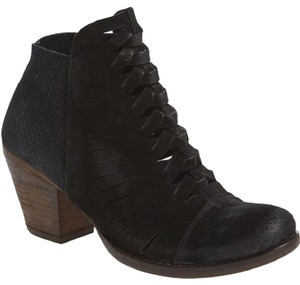 Free People People Loveland Woven Suede 39 Black Boots