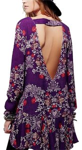 Free People short dress Purple, Red, Orange, Green, White on Tradesy