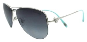 Tiffany & Co. Tiffany & Co Hearts Aviator Sunglasses TF3021 Silver w/Gradient lens