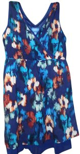 Simply Vera Vera Wang short dress Multi-Colored Flowy Fitted Signature Floral Soft on Tradesy