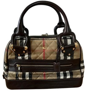 Burberry Westbury Quilted Bag Satchel in brown/tan